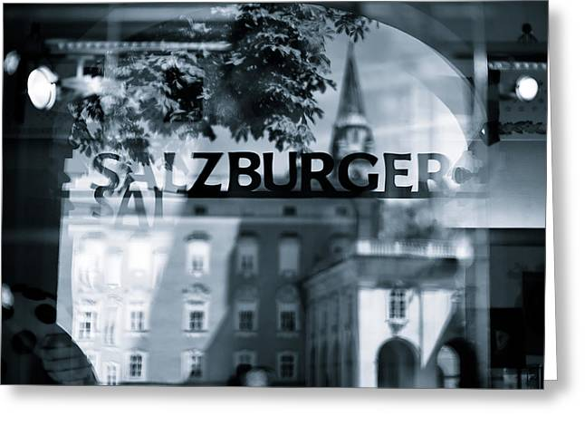 Salzburg Greeting Cards - Welcome to Salzburg Greeting Card by Dave Bowman