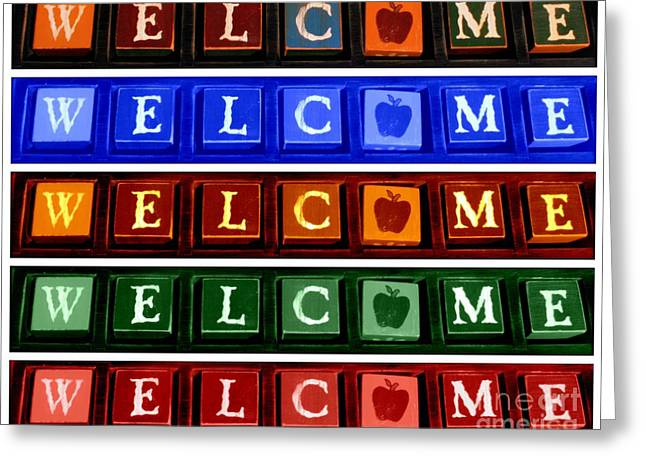Neighborly Greeting Cards - Welcome to the Block Greeting Card by Linda Galok
