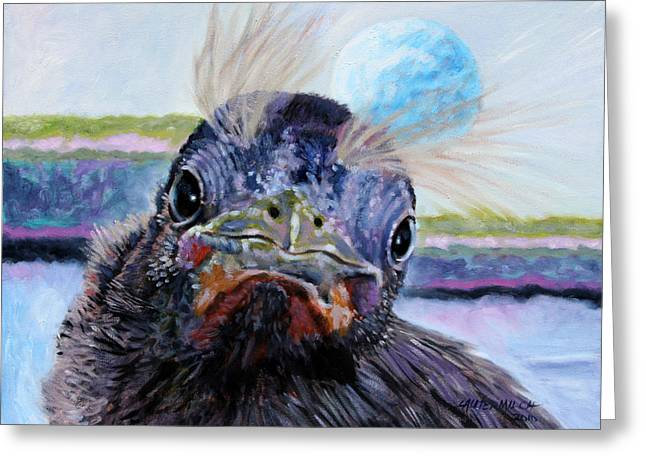Welcome To The World Greeting Card by John Lautermilch