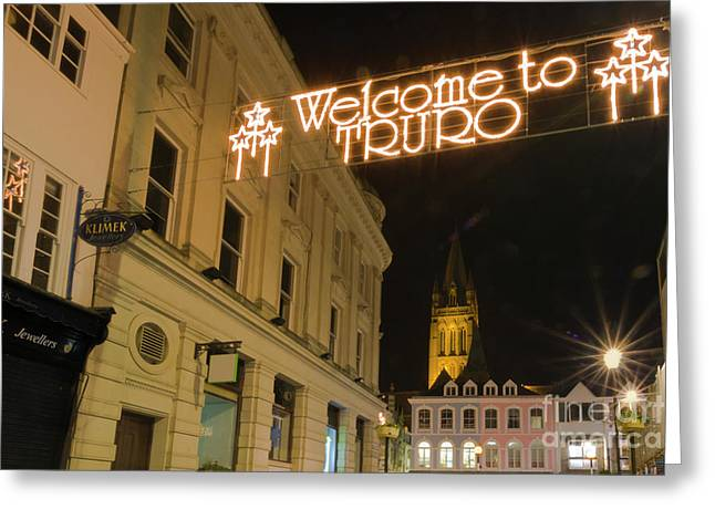 Welcome To Truro Greeting Card by Terri Waters