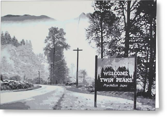 Welcome To Twin Peaks Greeting Card by Ludzska