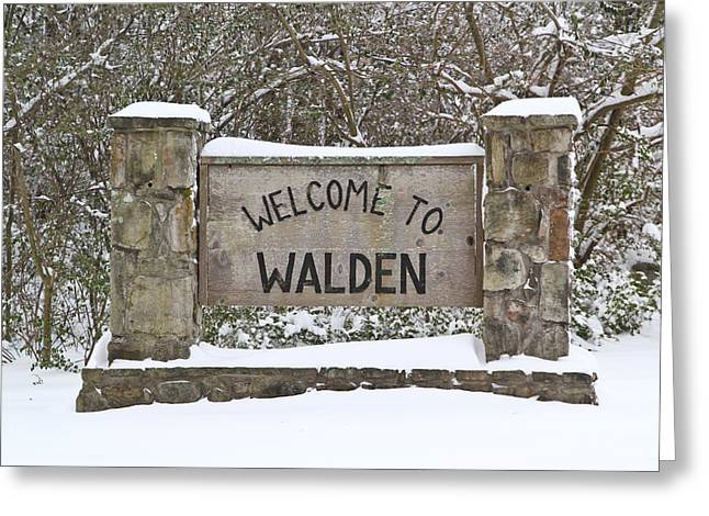 Welcome To Walden Tn Greeting Card by Tom and Pat Cory