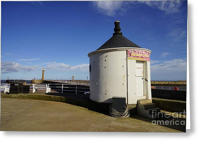 Welcome To Whitby Greeting Card by Stephen Smith