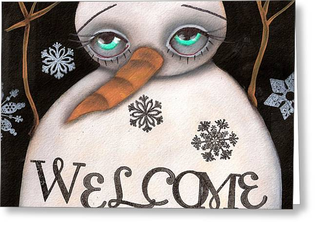 Welcome Winter Greeting Card by  Abril Andrade Griffith