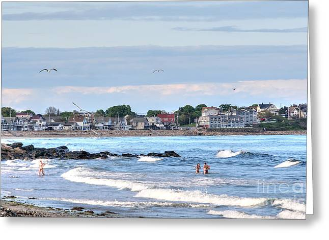 Maine Beach Greeting Cards - Welcoming Summer Greeting Card by Adrian LaRoque