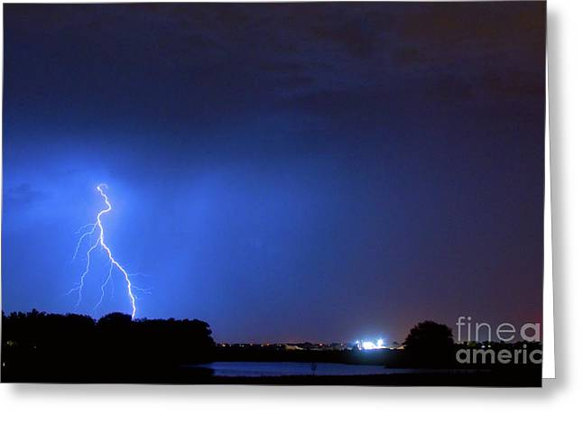 The Lightning Man Greeting Cards - Weld County Looking East from County Line CO Greeting Card by James BO  Insogna