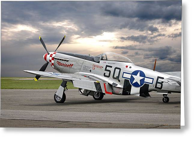 Well Earned Rest P-51 Greeting Card by Gill Billington