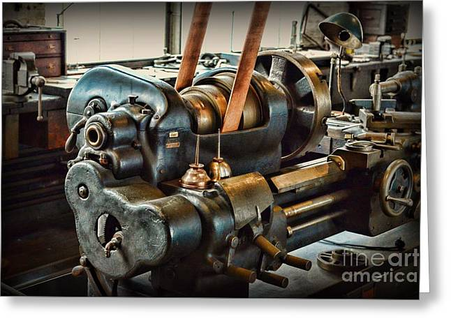 Well Oiled Machinery Greeting Card by Paul Ward