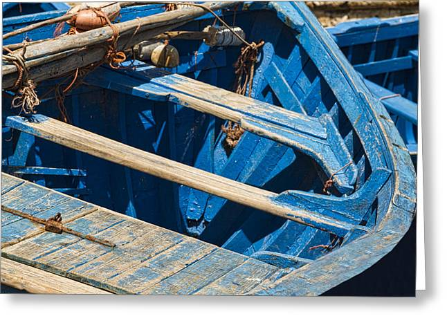 Fishing Boats Greeting Cards - Well Used Fishing Boat Greeting Card by Lindley Johnson