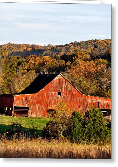 Tennessee Barn Greeting Cards - Well Used Greeting Card by Jan Amiss Photography