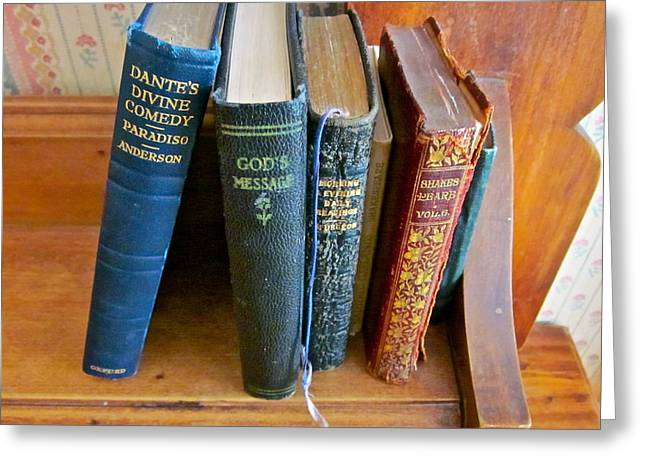 Old Inns Photographs Greeting Cards - Well worn ... well read ... well ... Greeting Card by Gwyn Newcombe
