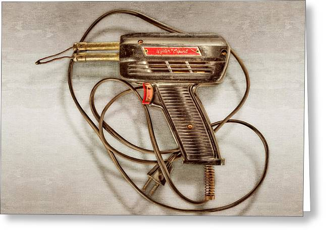 Weller Expert Soldering Gun Greeting Card by YoPedro