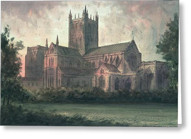 Ecclesiastical Architecture Greeting Cards - Wells Cathedral Greeting Card by Paul Braddon