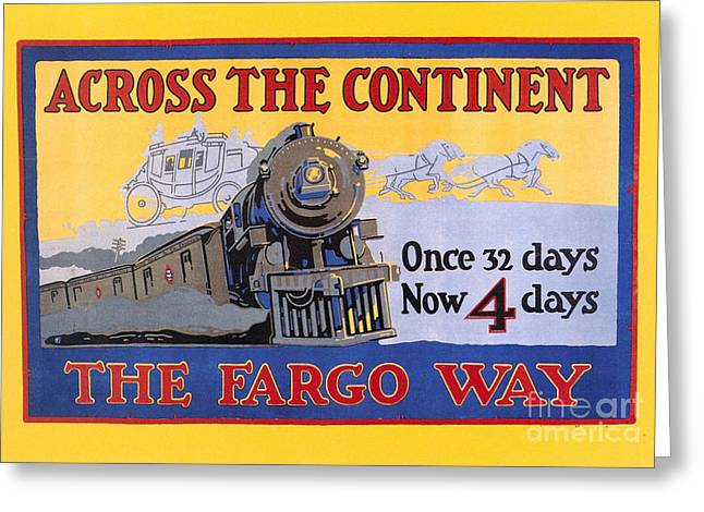 Express Greeting Cards - Wells Fargo Express 1915 Greeting Card by Granger