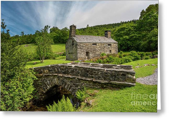 Welsh Farmhouse Greeting Card by Adrian Evans