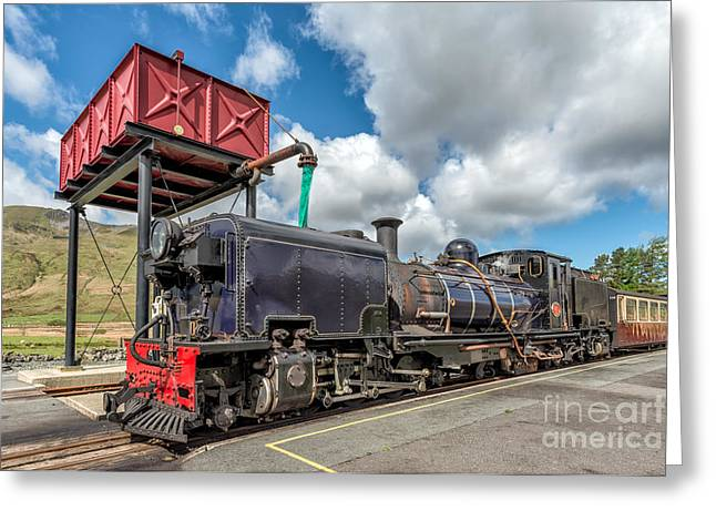 Carriage Digital Art Greeting Cards - Welsh Highland Railway Greeting Card by Adrian Evans