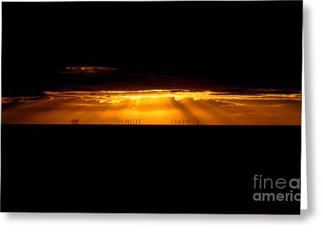 Chris Evans Greeting Cards - Welsh sunset Greeting Card by Chris Evans