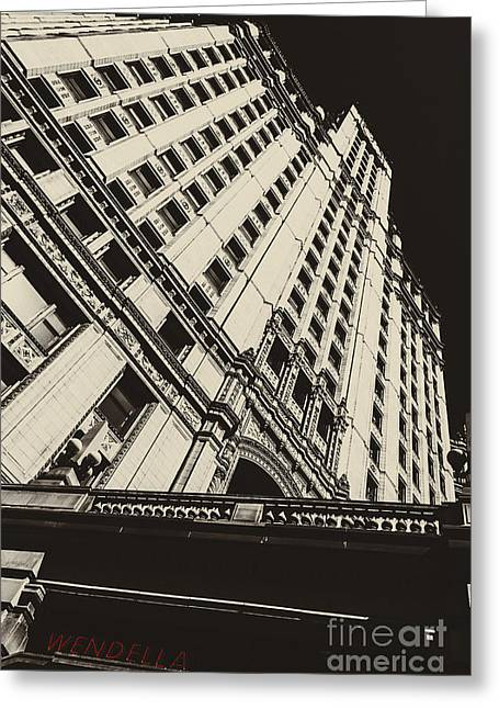 Chicago Black White Greeting Cards - Wendella Greeting Card by Andrew Paranavitana