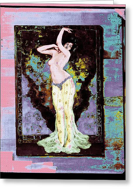 Wenzell Oriental Dancer Greeting Card by Robert G Kernodle