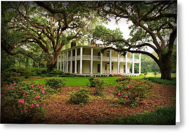 Wesley House Greeting Card by Sandy Keeton