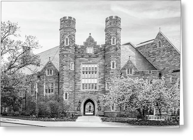 West Chester University Philips Hall Greeting Card by University Icons