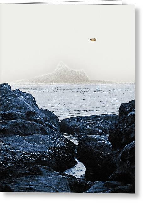 Ocean Vista Digital Greeting Cards - West Coast 9  Greeting Card by Steve Ohlsen