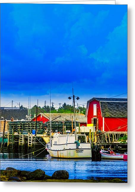 Shack Greeting Cards - West Dover Greeting Card by Ken Morris