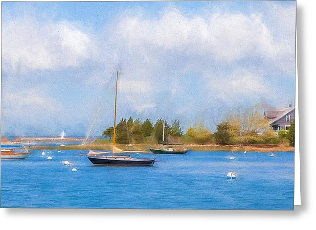 Falmouth Massachusetts Greeting Cards - West Falmouth Harbor Greeting Card by Michael Petrizzo
