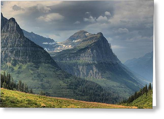 West Glacier Greeting Cards - West Glacier Mountains Greeting Card by Adam Jewell