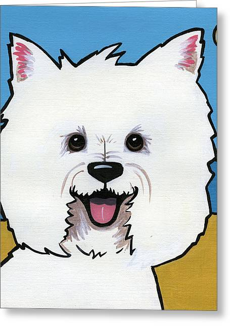 Westie Pup Greeting Cards - West Highland Terrier Greeting Card by Leanne Wilkes
