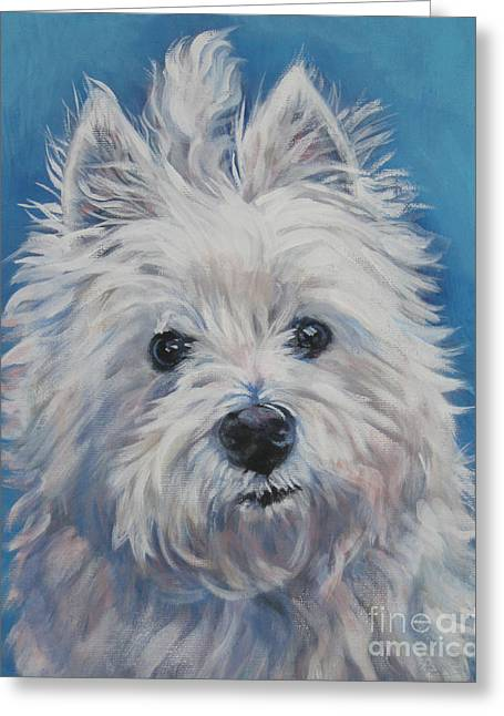 West Highland Terriers Greeting Cards - West Highland Terrier Greeting Card by Lee Ann Shepard