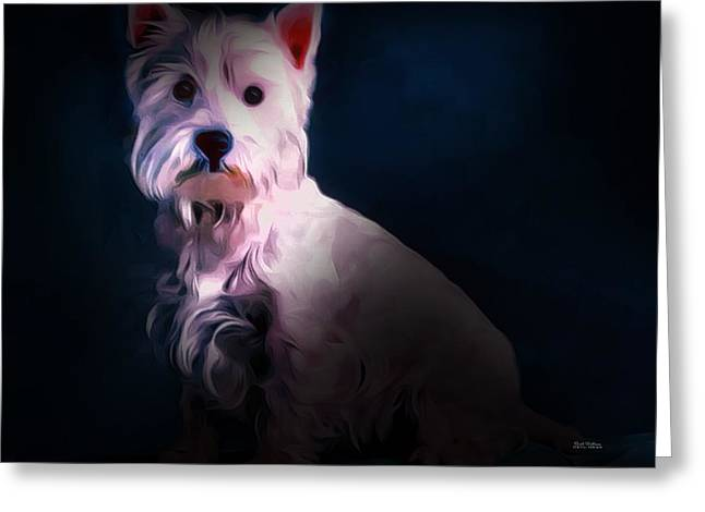 West Highland White Terrier Greeting Card by Scott Wallace