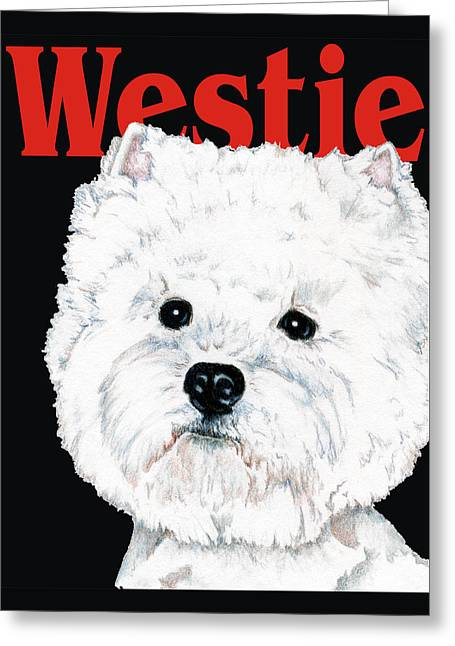 Pets Greeting Cards - West Highland White Terrier Westie Urban Pop Greeting Card by Kathleen Sepulveda