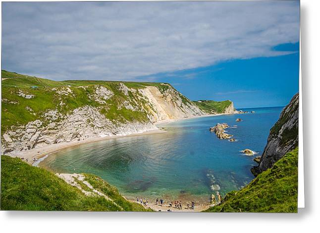 People Pyrography Greeting Cards - West Lulworth Greeting Card by Marius  Mangevicius