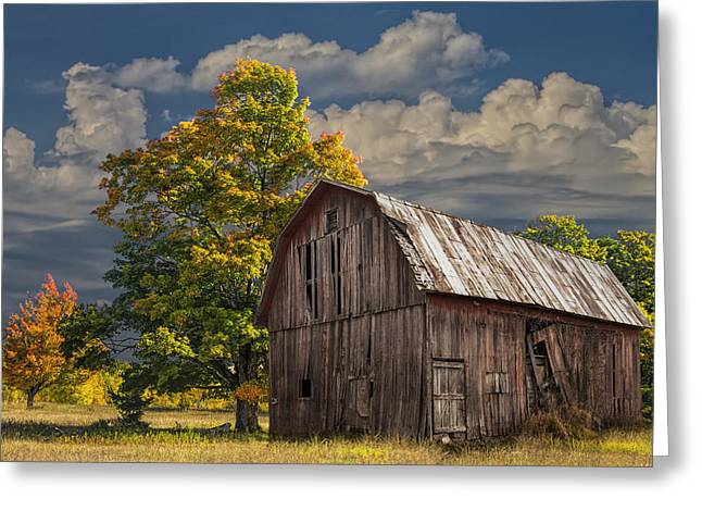 West Michigan Barn In Autumn Greeting Card by Randall Nyhof