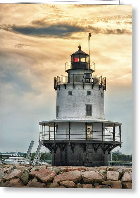 Coastal Maine Greeting Cards - West Oer-Brims with Warmest Dyes Greeting Card by Richard Bean