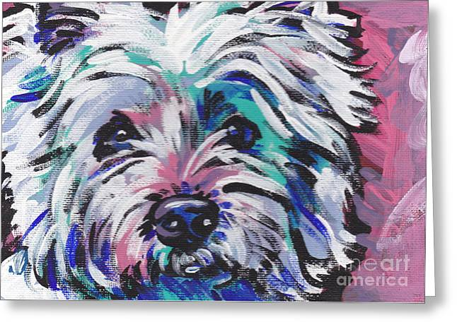 Westie Greeting Cards - West of the Wall Greeting Card by Lea