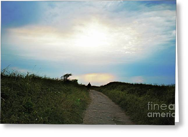 West Pentire Sunset Greeting Card by Terri Waters