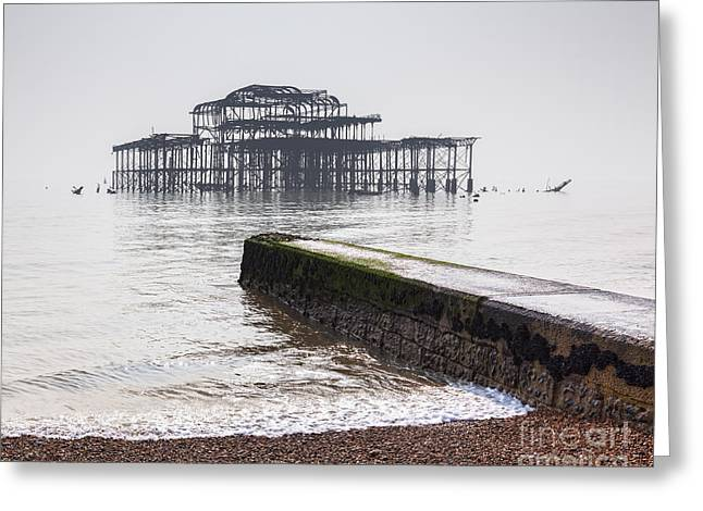 Brighton Beach Greeting Cards - West Pier at Brighton Greeting Card by Colin and Linda McKie