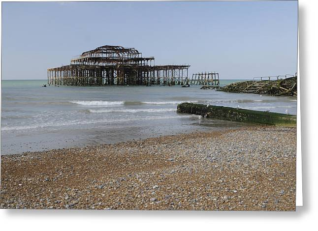 West Pier Greeting Card by Stephen Smith