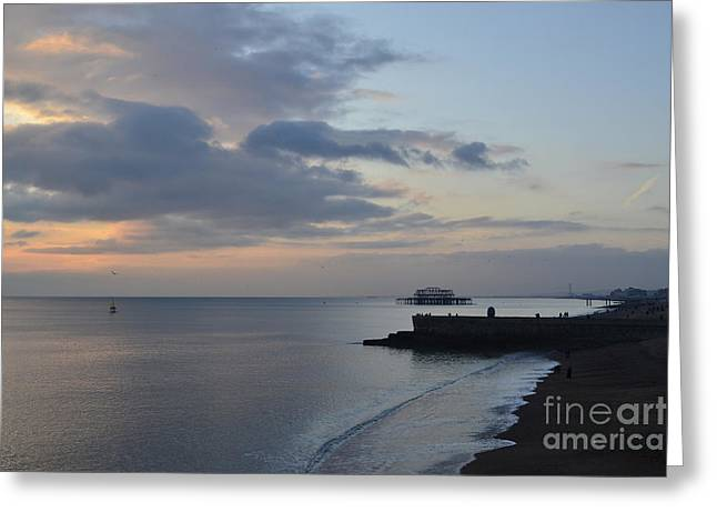 West Pier Views Greeting Card by Stephen Smith