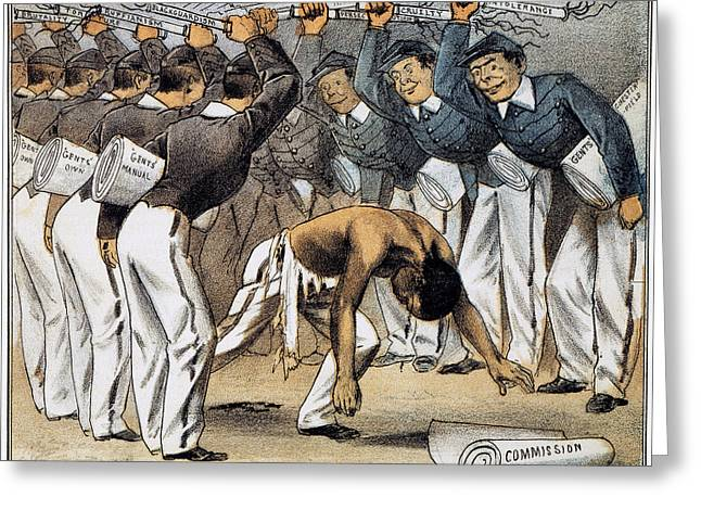 Race Discrimination Greeting Cards - West Point Cartoon, 1880 Greeting Card by Granger