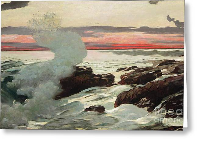 West Point Prouts Neck Greeting Card by Winslow Homer