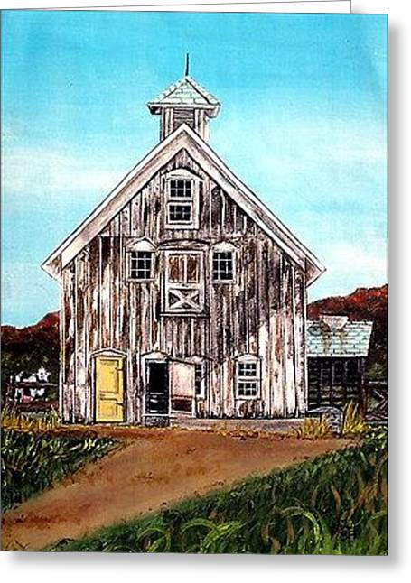 Linda Simon Wall Decor Greeting Cards - West Road Barn - All Rights Reserved Greeting Card by Linda Simon