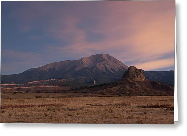 West Spanish Peak Sunset Greeting Card by Aaron Spong