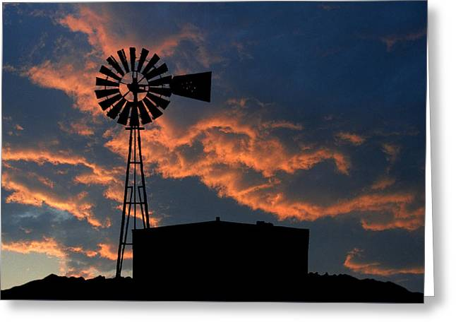 West Texas Cattle Tank Greeting Card by Jerry McElroy