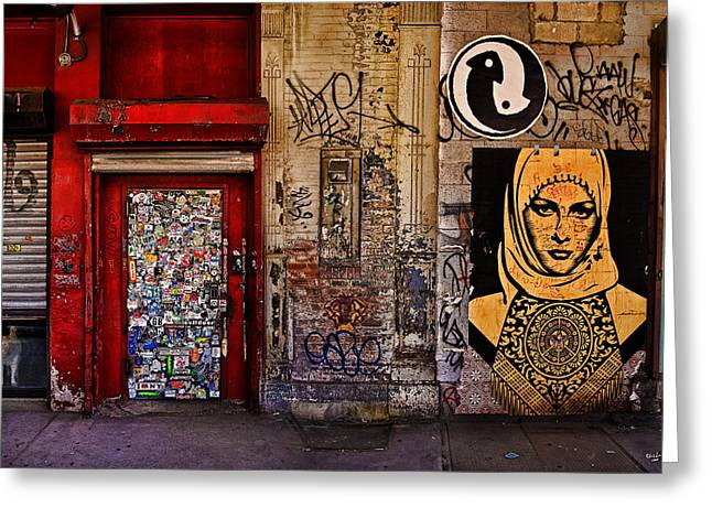 Best Sellers -  - Ying Greeting Cards - West Village Wall NYC Greeting Card by Chris Lord
