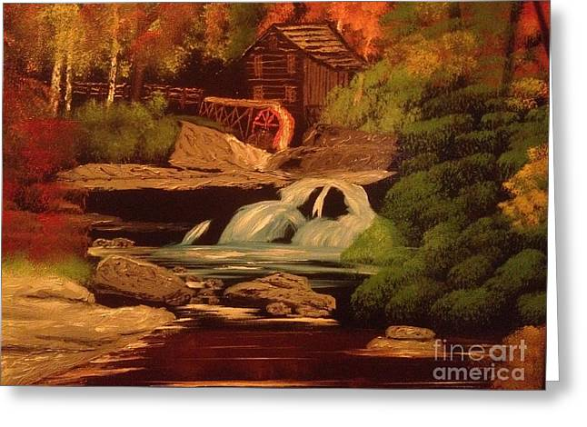 Bob Ross Paintings Greeting Cards - West Virginia Grist Mill Greeting Card by Tim Blankenship