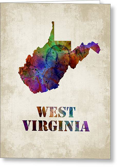 Vertical Greeting Cards - West Virginia Greeting Card by Mihaela Pater