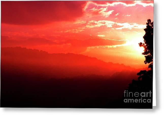 West Virginia Sunrise Greeting Card by Thomas R Fletcher